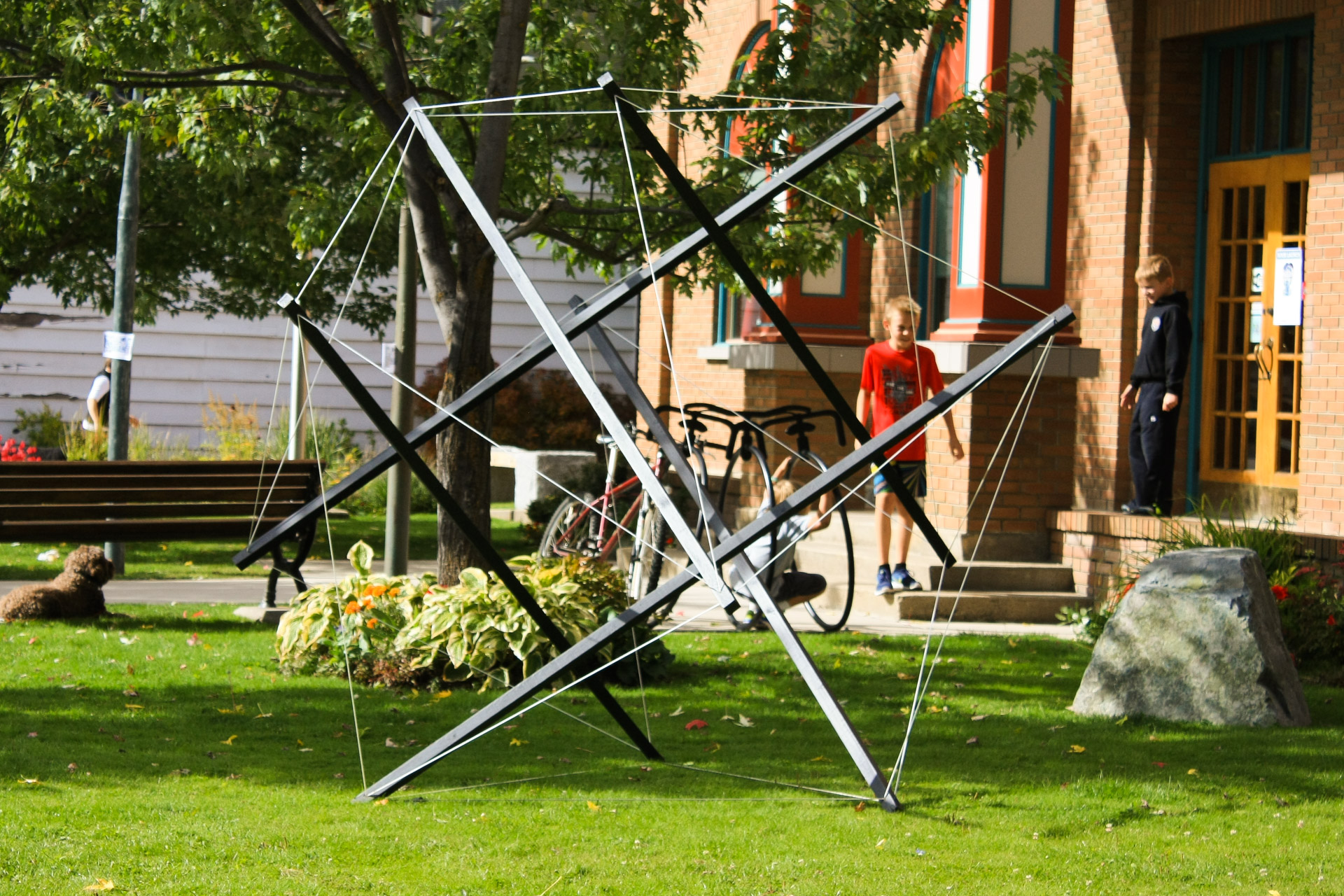 Tensegrity Public Library Art Ant1