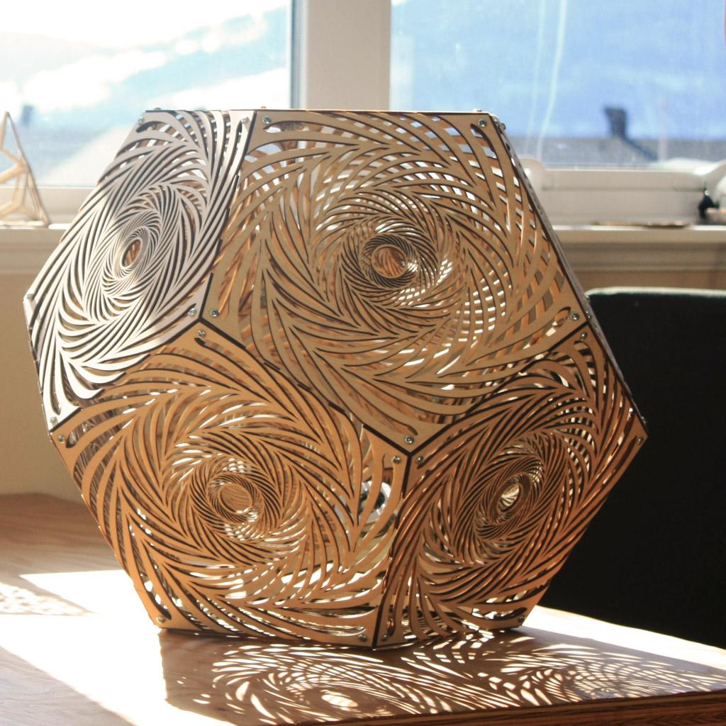 Dodecahedron Portal Light Laser Cut