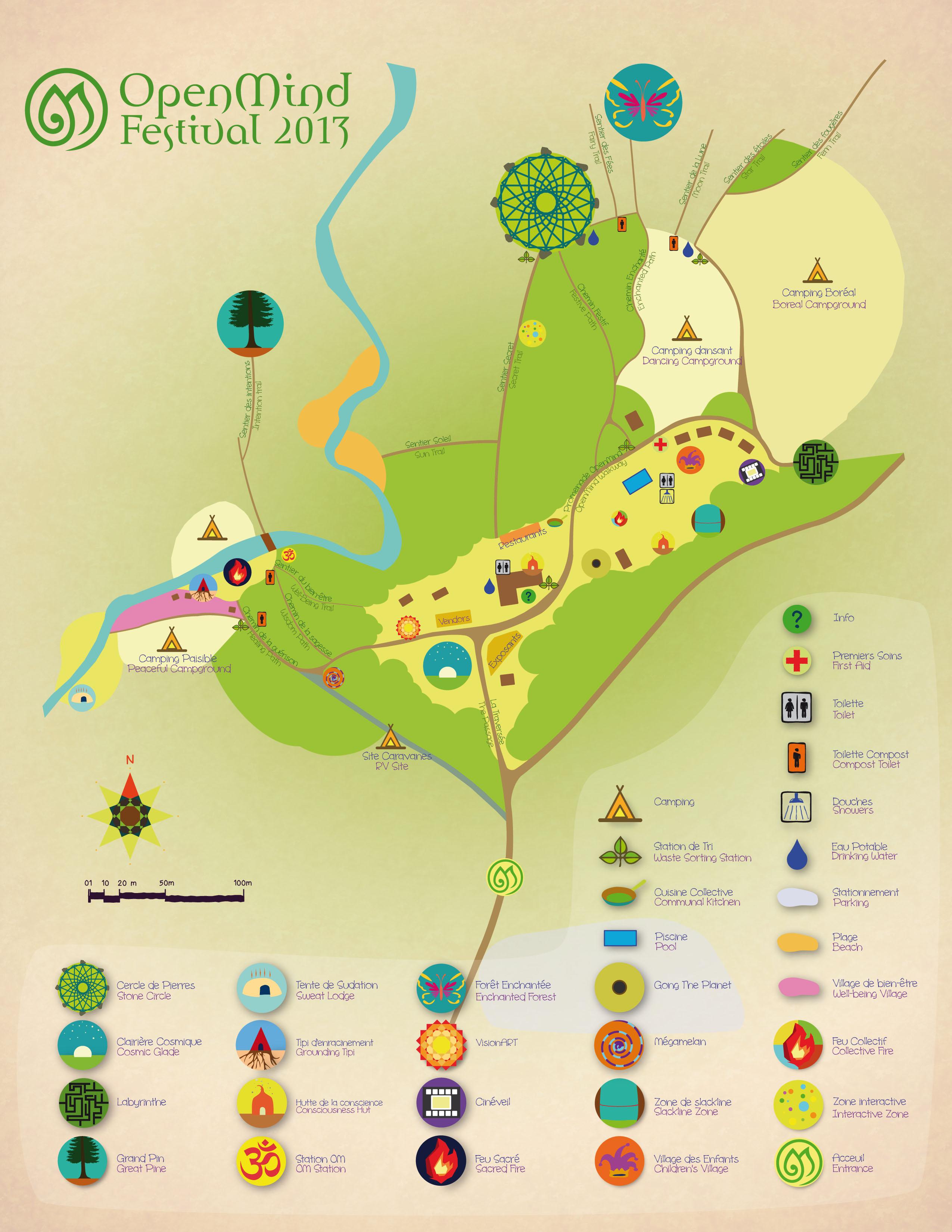 Open Mind Festival Site Map 2013