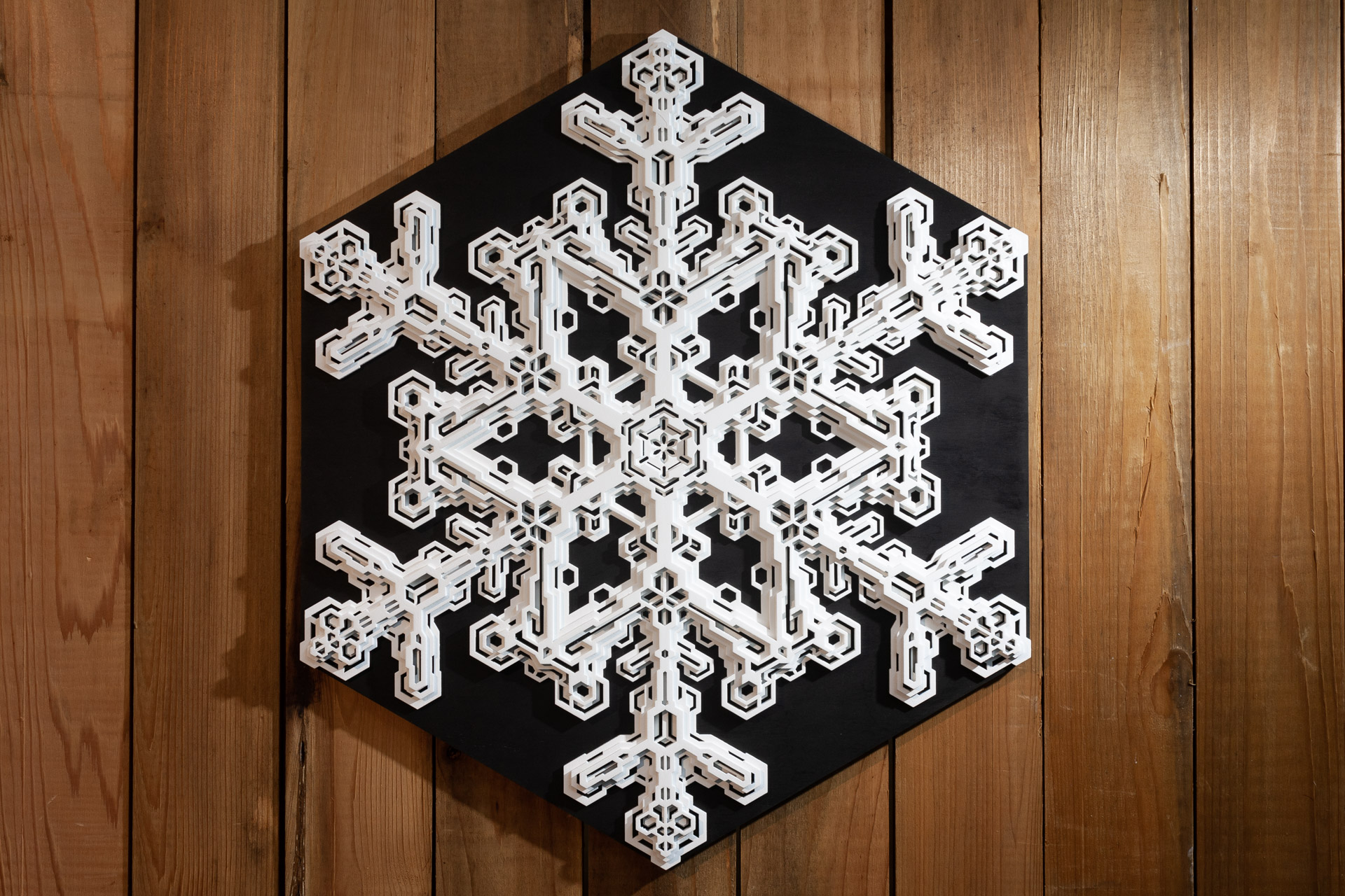 Wall art ice Ih Snowflake