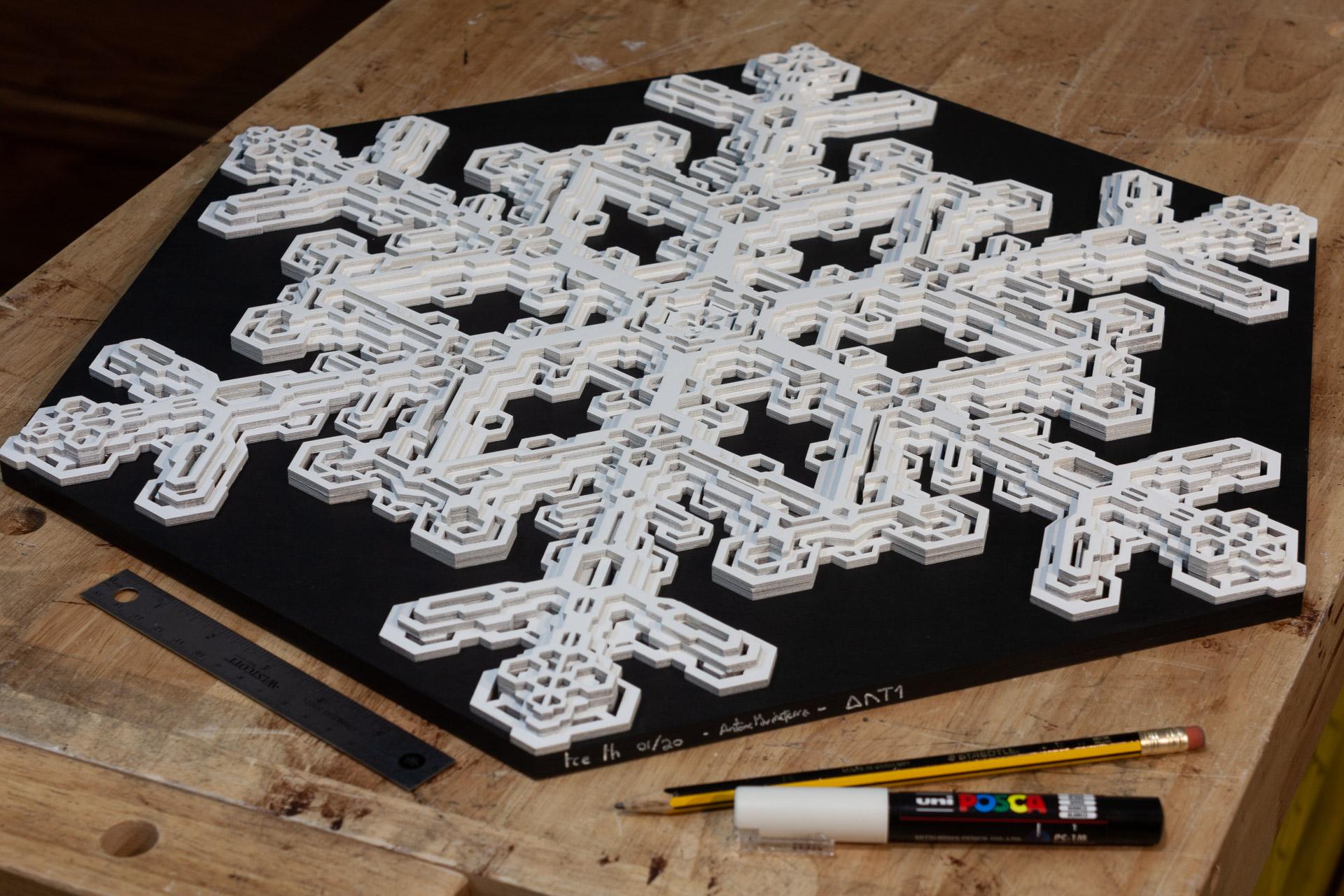 Wall art ice Ih Snowflake